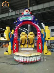 China Happy Clown Swing Human Gyroscope Ride FRP And Steel Material 6 Kw Power on sale