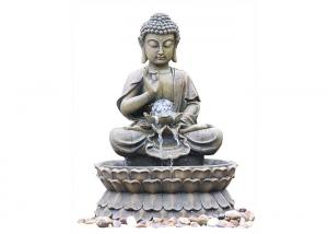 China Small Nature Brass Granite Buddha Statue Water Fountain For Home Decor on sale