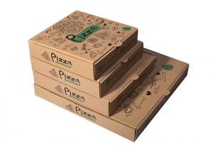 China Recycled Pizza Packaging Boxes, Printed Brown Cardboard Food BoxesWith Free Sample on sale