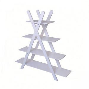 China Contemporary Wood Grid Storage Rack Shelf White Living Room Shelving Units on sale