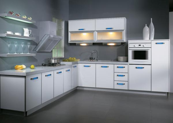 l shaped aluminium frame uv kitchen cabinet white melamine kitchen rh modernkitchencabinets sell everychina com