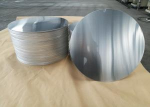 China Cookware Aluminum Sheet Circle Silver With Pre Painted Non - Stick Black Coating on sale