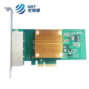 China 1000Base-T Intel I350 based PCIe Gigabit 4 Port RJ45 Fiber Lan Card NIC on sale