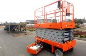 China Mobile Self Propelled Scissor Lift Aerial Work Platform For Aircraft Maintenance / Manufacturing supplier
