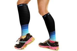 China Thigh / Calf Muscle Compression Sleeve Instant Shin Splint Support Calf Pain Relief on sale