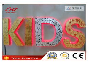 China Edge 3D Advertising Letter Signs Anti - Oxidative / Custom Led Signs on sale