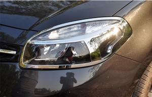 China Customized ABS Chrome Headlight Bezels / Auto Headlight Covers For Renault Koleos 2012 on sale