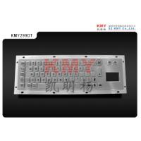 China vandalproof IP65 IK07 metal keyboard kiosk keyboard with touchpad KMY299D-T on sale