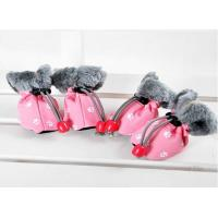 Christmas OEM Cute PET PU Dog Shoes FOR winter , S M XL dog running shoes
