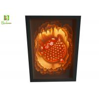 Illuminated Cut Paper Light Sculpture Lamp Promotional Gift LED And Music System