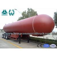 Manual Tri Axle 56CBM Aluminium Alloy LPG Tank Trailer Big Capacity