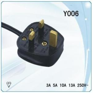 China united kingdom high qiality copper electric extension cord with switchable plug on sale