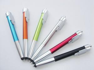 China office stationery custom touch stylus pen personalized logo plastic Pen With Stylus on sale