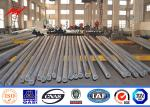 China Octagonal 110KV Galvanized Steel Electric Power Pole With Bitumen 15 Years Warranty wholesale