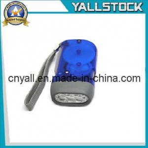 China No Battery 3 LED Dynamo Crank Wind Flashlight Torch -JA015 on sale