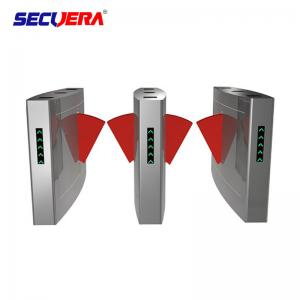 China Electronic Bridge Type Swing Turnstile Barrier Gate Access Control Coin Operated System on sale