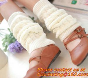 China Trim Crochet Knit Foot Knee High cotton socks use for women Leg Warmers and Boot Sock on sale