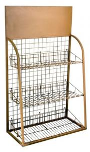 China Easy Assembly Pet Metal Display Racks For Pets' Apparels With Wood Panel on sale