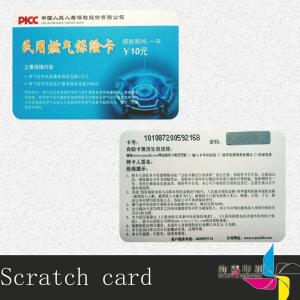 China Frosted Paper Scratch Card / Lottery Scratch Card Embossing Number on sale