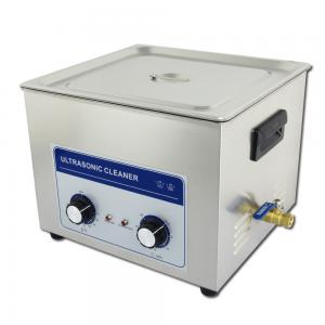 China 40khz 15L Benchtop Ultrasonic Cleaner With Manual Knobs , Adjustable Timer on sale