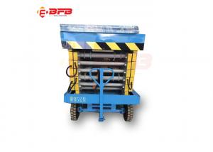 China 1500kg mobile hydraulic scissor lifting table  for  shop reparing work on sale