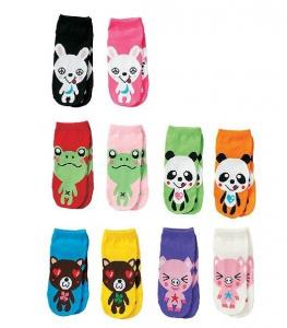 China Cute Baby' s 100 percent cotton non skid Terry ankle Socks With Animal Head on sale