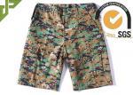 Digital Woodland Tactical Cargo Shorts Stitching Line Edge With Bar - Tacks