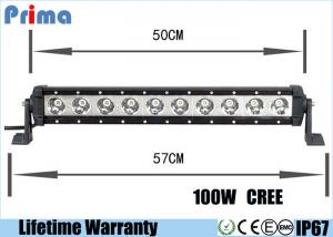 China 22inch 100W High Power Cree 10W Led Light Bar For Jeep SUV Boat Marie Truck on sale
