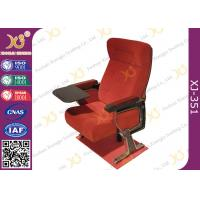 Self Weight Close Seat Pad Moive Theater Seating Chairs In Aluminum Alloy Legs