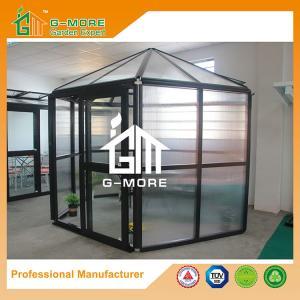 China Latest Design Box Type Aluminium Profile + 10MM Polycarbonate Hexagon Greenhouse - 320 X 283 X 275CM (L X W X H) on sale