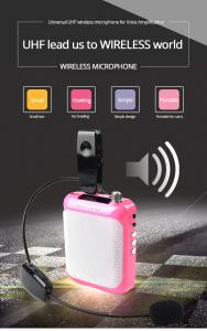 China UHF Wireless Headset Microphone Megaphone with 3.5mm to 6.5mm Convertor Plug, Transmitter and Receiver on sale