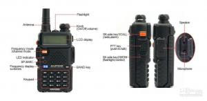 China BAOFENG UV-5R Dual-band Two way radios with USB programming cable and Software on sale