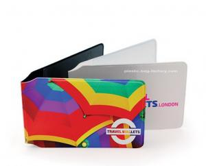 China Customized Full Color Plastic Card Holder Artificial Leather Card Wallet on sale