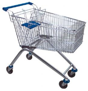 China 80L Custom Zinc Plated Australia Plastic Trolley One-stop Steel Supermarket Shopping Cart on sale
