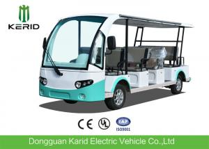 China 4 Wheel Electric Sightseeing Car , 11 Seats Electric Passenger Vehicle With Sun Curtain on sale