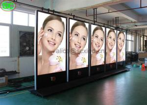 China High Definition Outdoor P5 Advertising Street Pole Led Screen WIFI Control supplier
