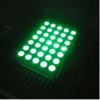 China Pure Green 5x7 Dot Matrix 3mm LED Lights Moving Message Signs on sale
