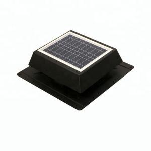 China 12v 10w DC Solar Roof Vent Fan with solar panel matte black 500CFM on sale
