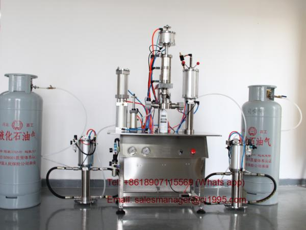 R22 Refrigerant Freon Filling Machine , Pneumatic Aerosol
