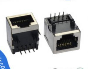 8 Pin Ethernet Jack Rj45 Single-Port Input , Network RJ45 Modular ...
