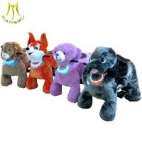 Hansel plush motorized riding animals and electrical toy animal scooter for mall with animal scooter