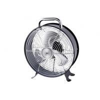 Retro Electric Desk Fan Clock Type Two Speeds Knob Switch Full Copper Motor