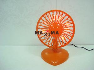 China Portable Cooling Mini 7 Red LED USB Powered Desk Fans with Message I Love You on sale