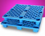 Hdpe Nesting Warehouse Storage Shelves Blue Plastic Pallets Logistic Standard