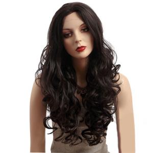 China 26 Natural Curly Body Wavy Synthetic Front Lace Wigs With Baby Hair on sale