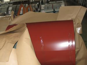 China PVDF fluorocarbon color coated steel coil DX51D+Z, DX51D+AZ, S350GD+Z colour coated steel on sale