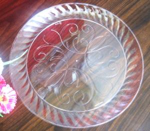 China Food Grade Disposable Salad Bowls 9 round / Clear Plastic Salad Bowls Food Packaging on sale