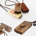 Lanyard Eco-Friendly Wooden Thumb Drive, Wooden USB Pen Drive Lanyard USB