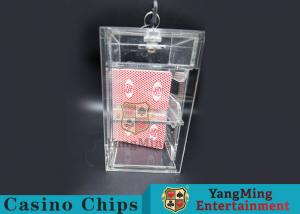 China Transparent Security Casino Card Holder With  Laser Engraving Craftsmanship on sale