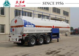 China 40000 Liters 3 Axles Fuel Tanker Trailer Carbon Steel Body For Wet Cargo Transport on sale